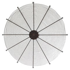 Industrial Steel Fan Cover from Factory as Wall Art