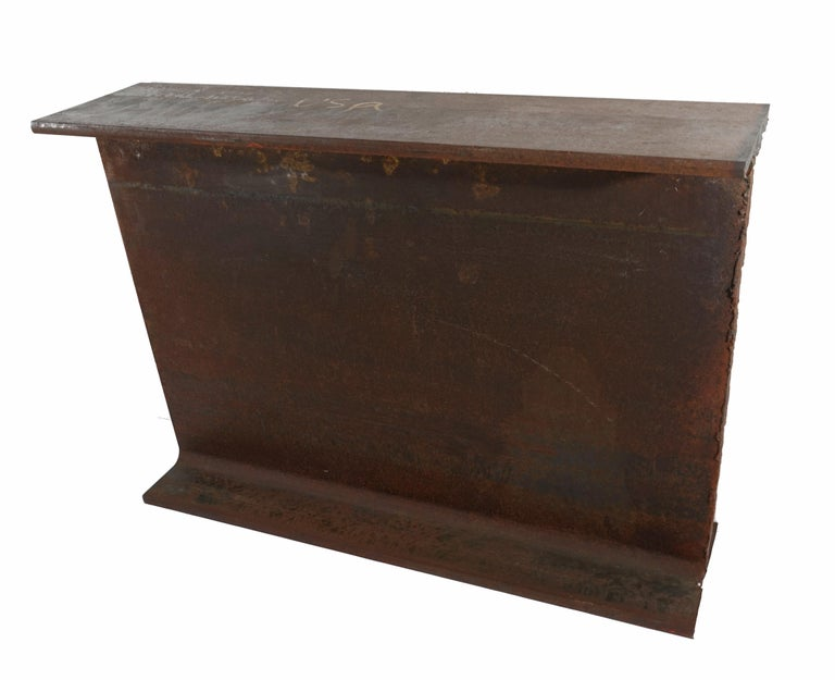 American Industrial Steel I-Beam Table by Edelman New York For Sale