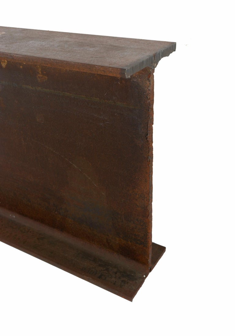 Industrial Steel I-Beam Table by Edelman New York In New Condition For Sale In New York, NY
