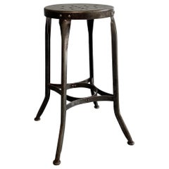 Industrial Steel Shop Stool by Toledo Metal Furniture Co