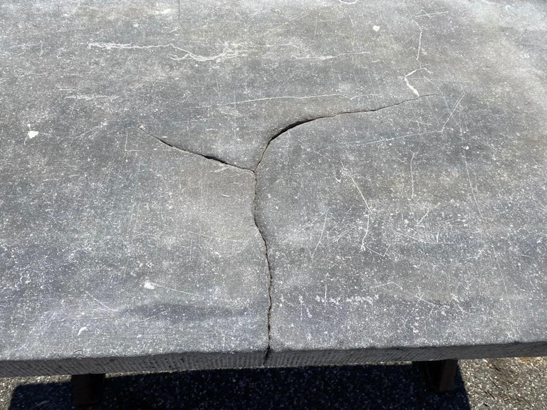 Industrial Stone Top Kitchen Island Worktable For Sale 1