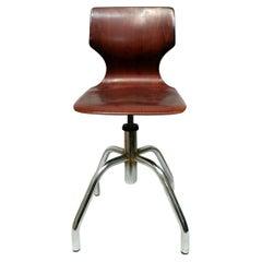 Industrial Stool Design Adam Stegner Per Pagholz, 1950s
