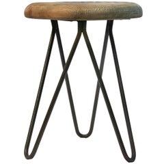 Industrial stools Vintage European Wood Steel Stools (6x)