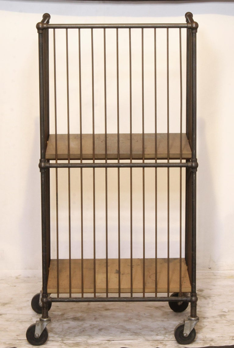20th Century Industrial Storage Cart For Sale