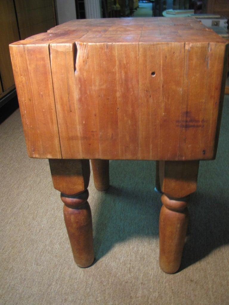 American Industrial Strength Maple Butcher Block Table, circa 1940