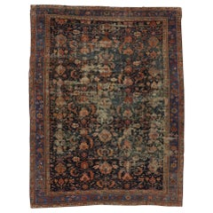 Industrial Style Distressed Antique Persian Malayer Rug