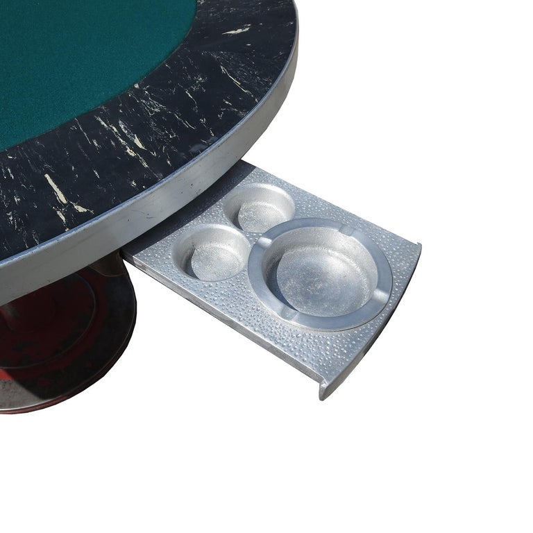 American Industrial Style Poker Game Table For Sale