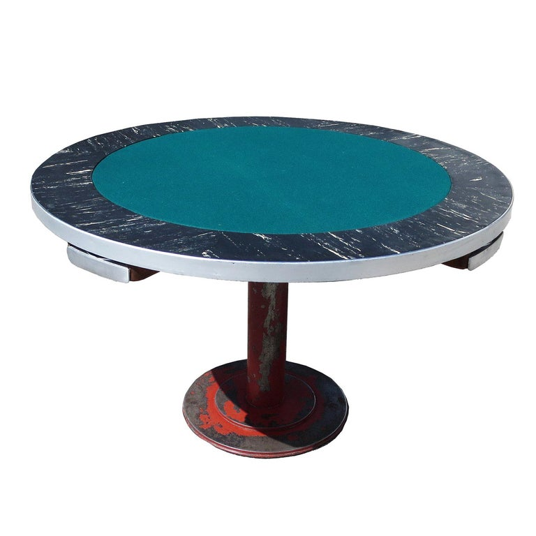 Industrial Style Poker Game Table For Sale