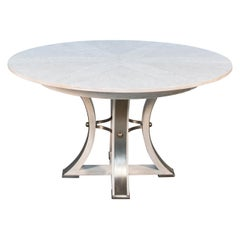 Industrial Style Round Extension Dining Table