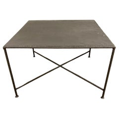 Industrial Style Square Metal Coffee Table