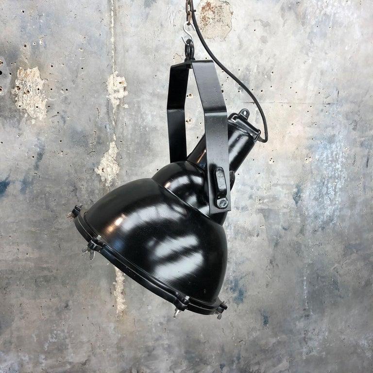 Industrial Style Tilting Black Cargo Ceiling Pendant Light For Sale 6