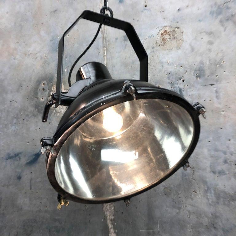 Industrial Style Tilting Black Cargo Ceiling Pendant Light For Sale 7