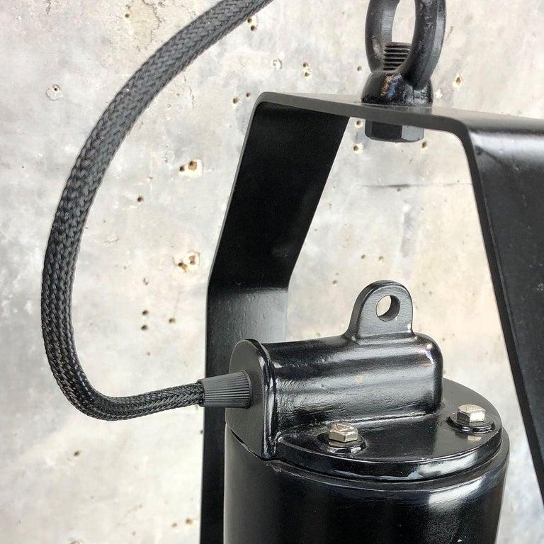 Industrial Style Tilting Black Cargo Ceiling Pendant Light For Sale 1
