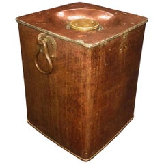 Industrial Swedish Copper Lighthouse Fuel Container, 1834