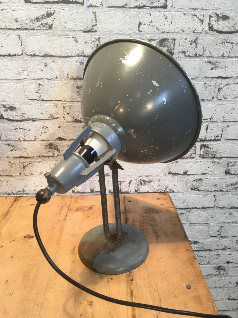 Swiss Industrial Table Lamp by BAG Turgi, Switzerland For Sale