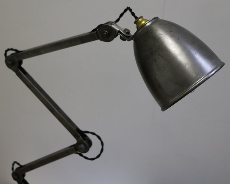 Steel Industrial Table Lamp by E.D.L., UK, 1950s