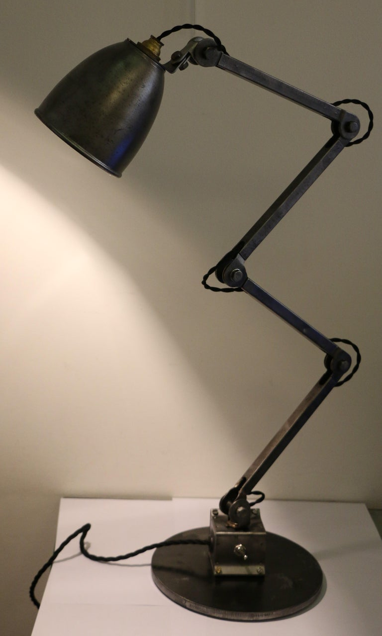 Industrial Table Lamp by E.D.L., UK, 1950s 3