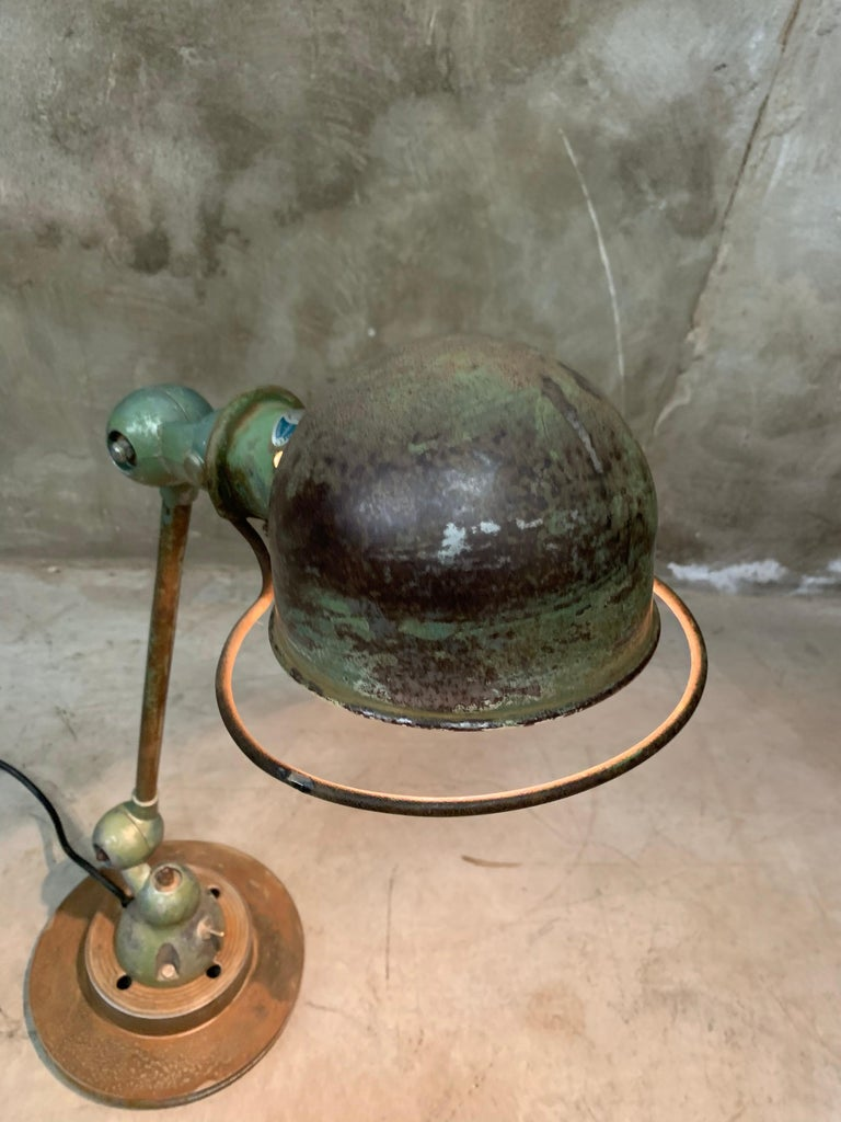 French Industrial Table Lamp by Jean-Louis Domecq, Jieldé, 1960 Metal For Sale