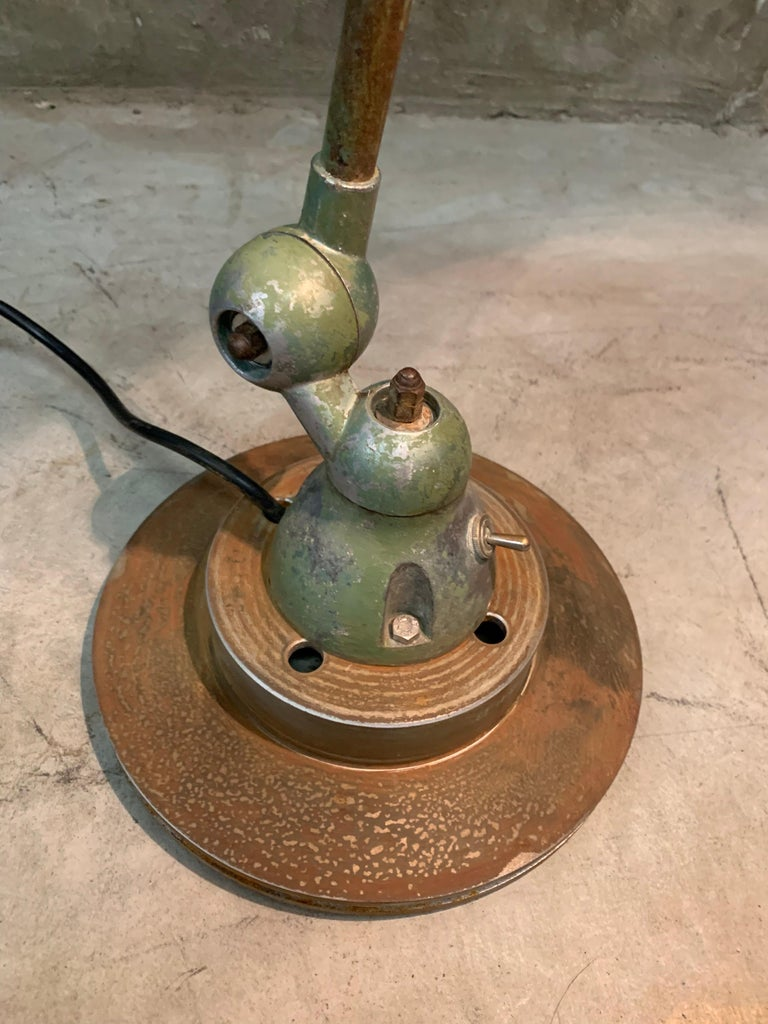 Industrial Table Lamp by Jean-Louis Domecq, Jieldé, 1960 Metal In Good Condition For Sale In Hoogeveen, NL