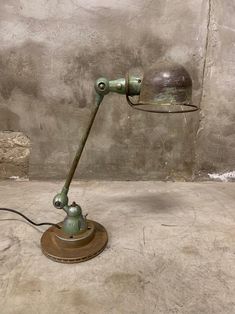 Industrial Table Lamp by Jean-Louis Domecq, Jieldé, 1960 Metal For Sale 2