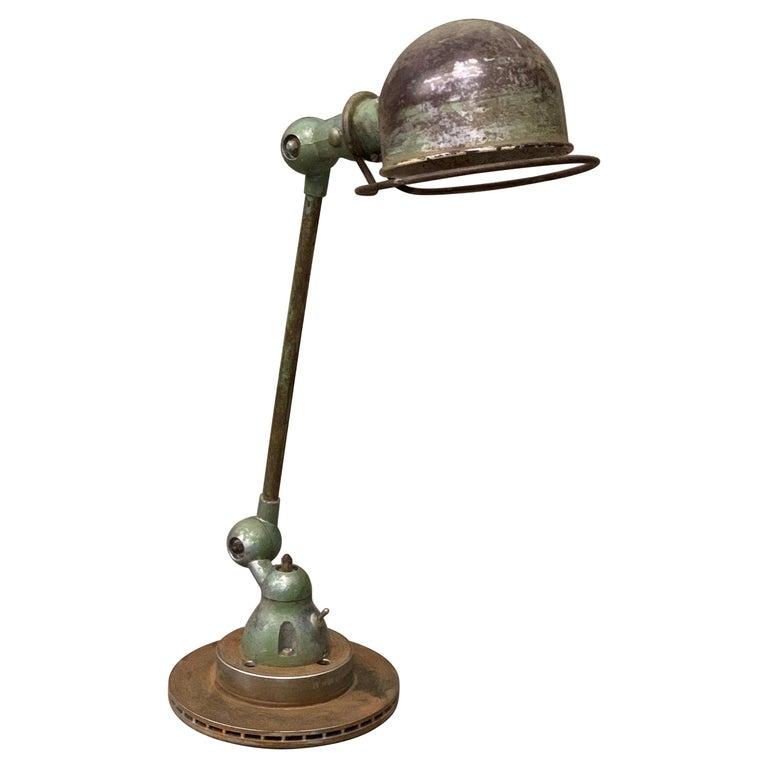 Industrial Table Lamp by Jean-Louis Domecq, Jieldé, 1960 Metal For Sale