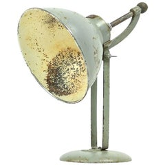Industrial Table Lamp in Grey Metal by BAG Turgi, Switzerland, 1930s