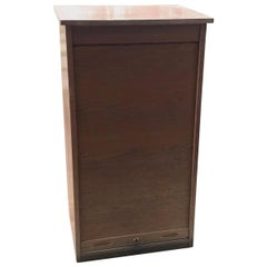 Industrial Tambour Front Cabinet