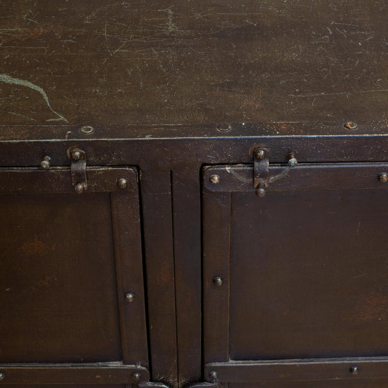 Iron Industrial Tool Chest Sideboard, circa 2018 For Sale