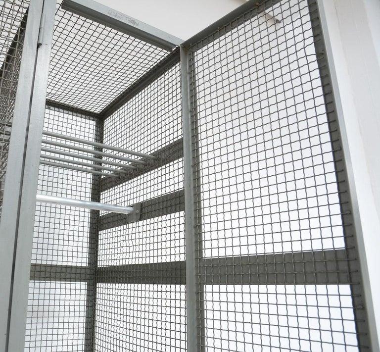 Industrial Transparent Metal Locker Cabinet For Sale 6