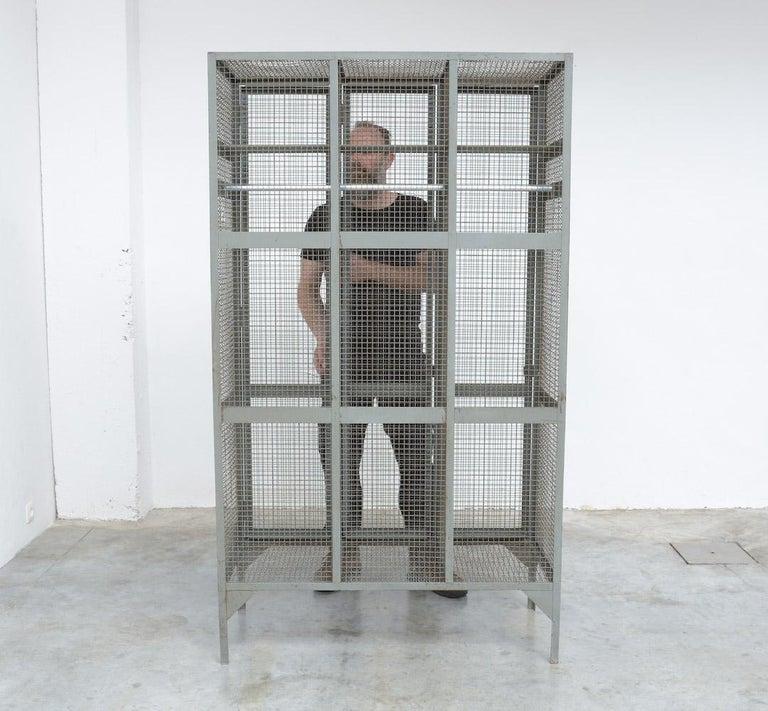 Industrial Transparent Metal Locker Cabinet For Sale 7