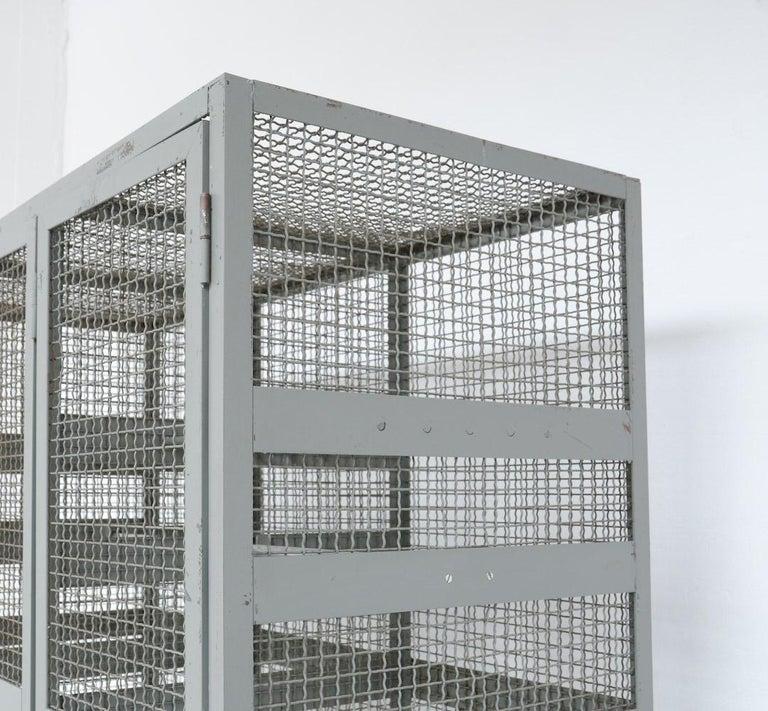 Industrial Transparent Metal Locker Cabinet For Sale 1