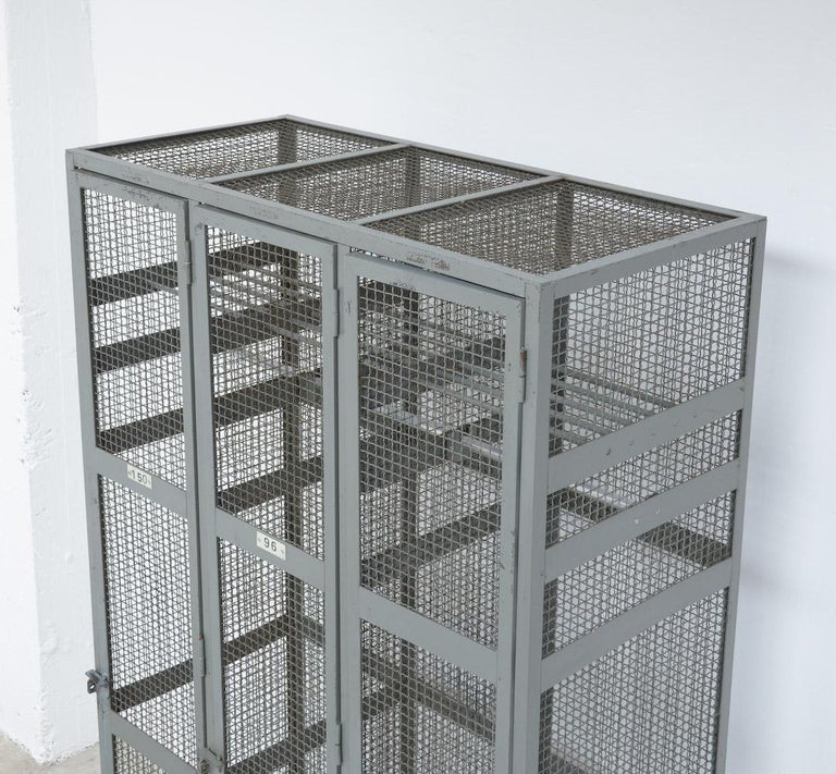 Industrial Transparent Metal Locker Cabinet For Sale 2