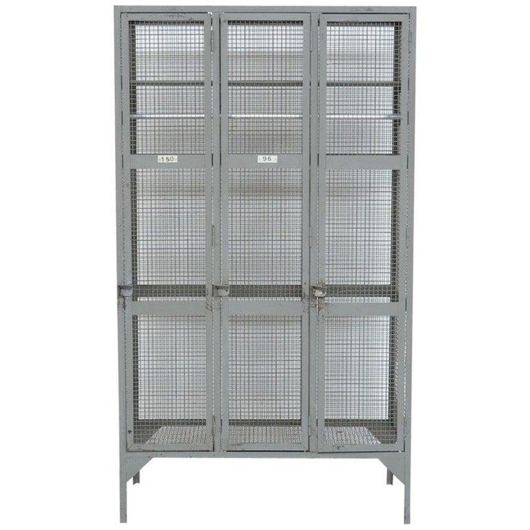 Industrial Transparent Metal Locker Cabinet For Sale