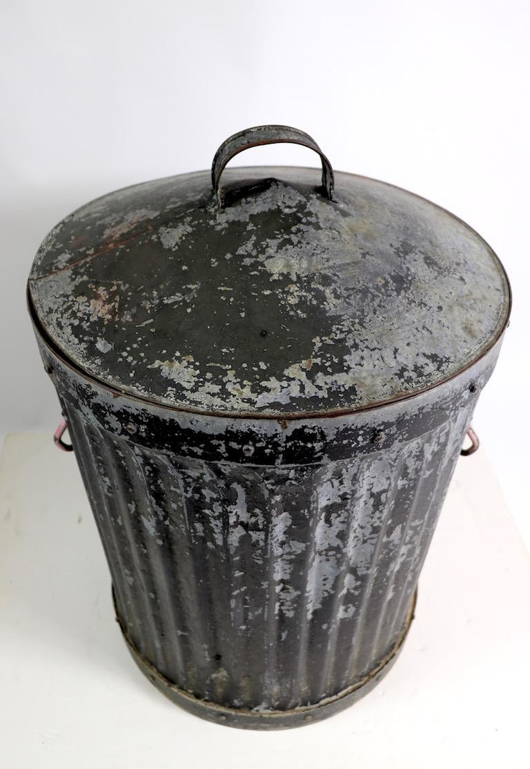Industrial Trash Garbage Can With Lid For Sale At 1stdibs