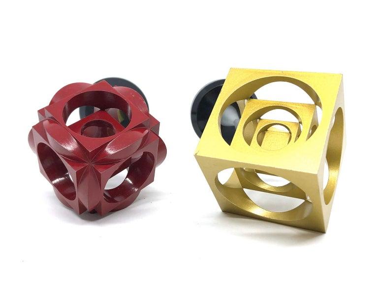 Industrial Turners Cube Scale Design Model Desk Sculptures, German, 1970s In Good Condition For Sale In Nürnberg, DE