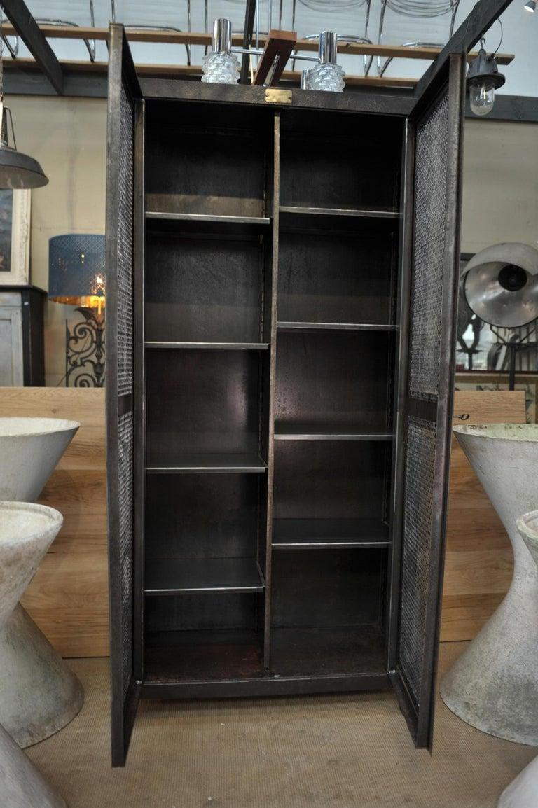 Industrial Two Mesh Doors Iron