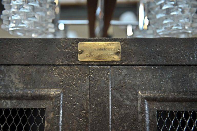 Mid-Century Modern Industrial Two Mesh Doors Iron