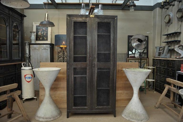 Mid-20th Century Industrial Two Mesh Doors Iron