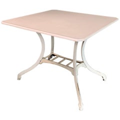 Industrial Vitrolite and Enameled Cast Iron Table