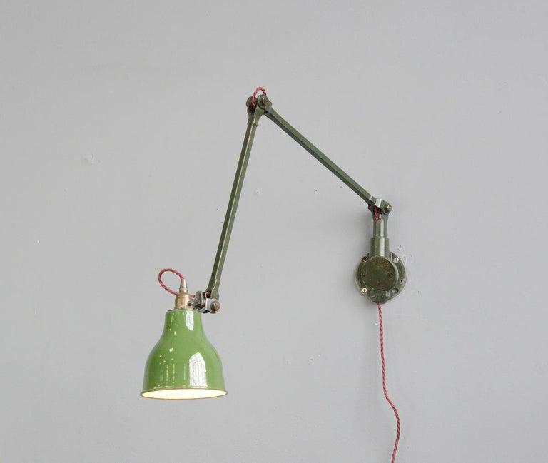 Industrial Wall Lamps by Mek Elek, circa 1930s For Sale 2