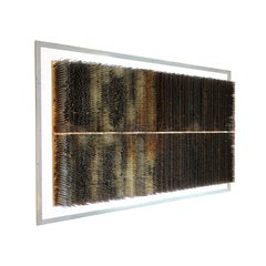 Industrial Wall Sculpture, Distressed Conveyor Brushes