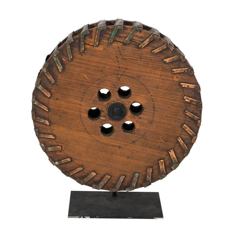 Industrial Wheel Sculpture