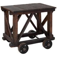 Industrial Wheel Table, England, circa 1940
