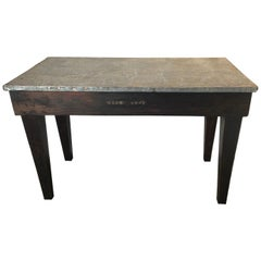Industrial Wood and Metal Machine Shop Work Table Desk Bench