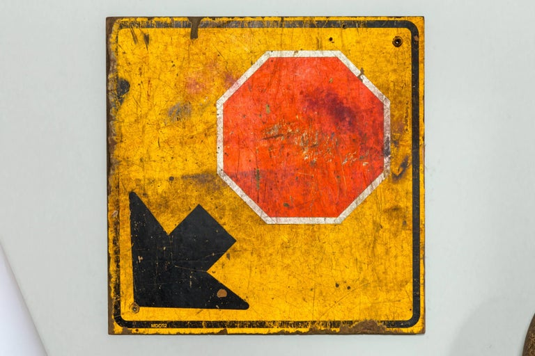 Industrial wooden stop sign, 20th century.