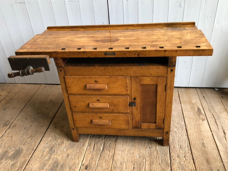 20th Century Industrial Work Bench For Sale