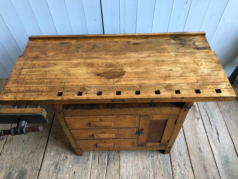 Maple Industrial Work Bench For Sale