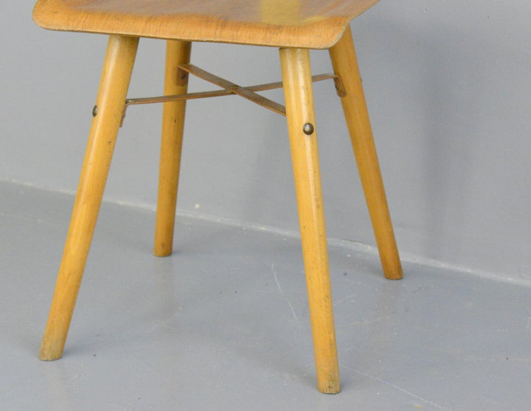 Industrial Work Stool By Ama, circa 1930s In Good Condition For Sale In Gloucester, GB