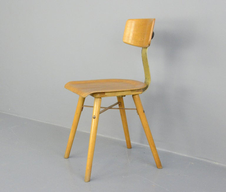 Mid-20th Century Industrial Work Stool By Ama, circa 1930s For Sale