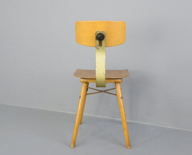 Industrial Work Stool By Ama, circa 1930s For Sale 1